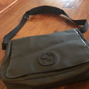 Gucci Black Briefcase/Laptop/Large Messenger Bag
